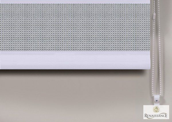 Diamante Straight Edge Roller Blind Glitter Sparkle