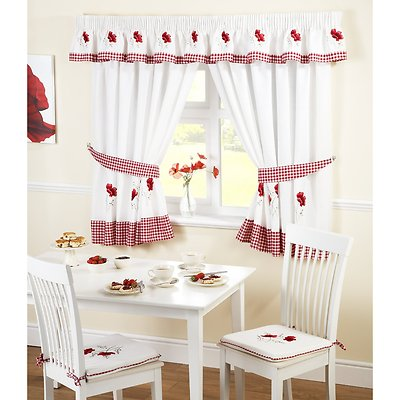 Kitchen Curtain On Home Kitchen Curtain Window Sets Poppy Kitchen