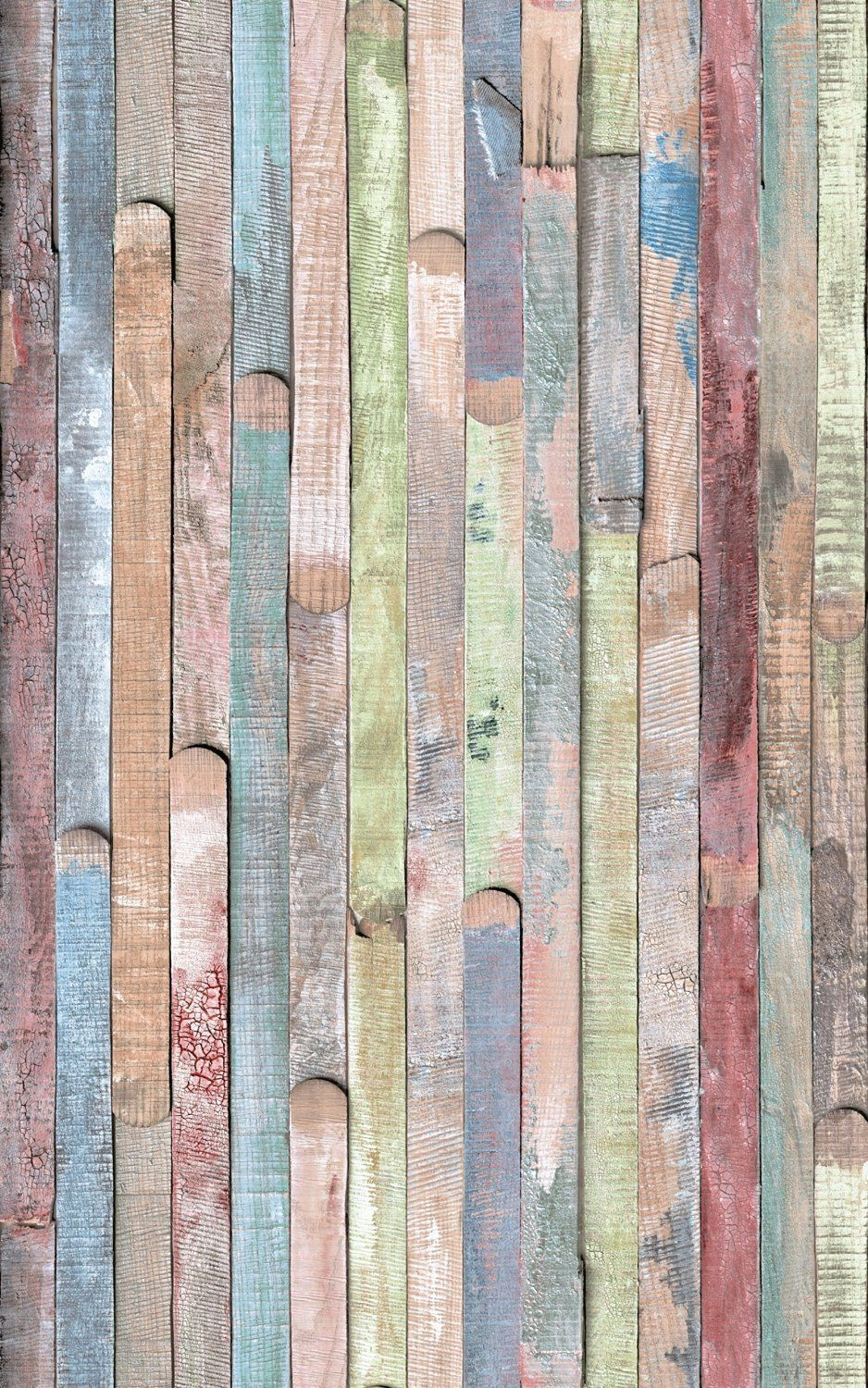 Multi Colour Wash Wood Planks Fablon Sticky Back Plastic
