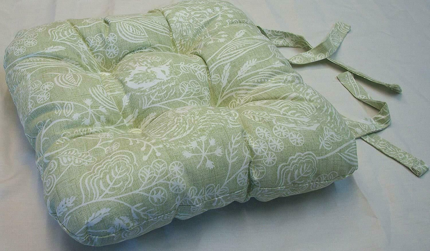 Picture of: Uk Made Sage Green Hedgehog Fox Rabbit Wildlife Chunky Chair Seat Pad 8 99 Ea
